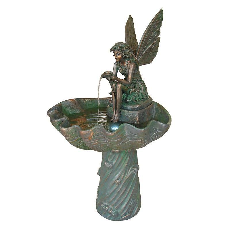 Polyresin Fairy with Shell Basin Fountain - 130cm