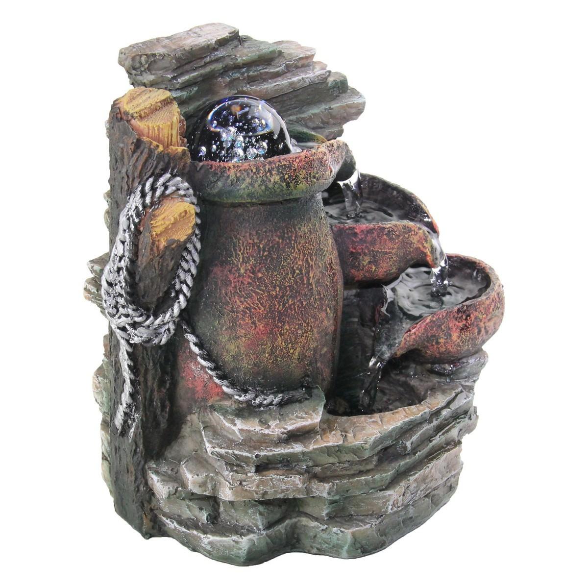 Pots on Slate Fountain - 20cm