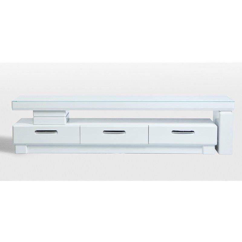 M1800-1 3 Drawer White Extendable Entertainment Unit - 180cm