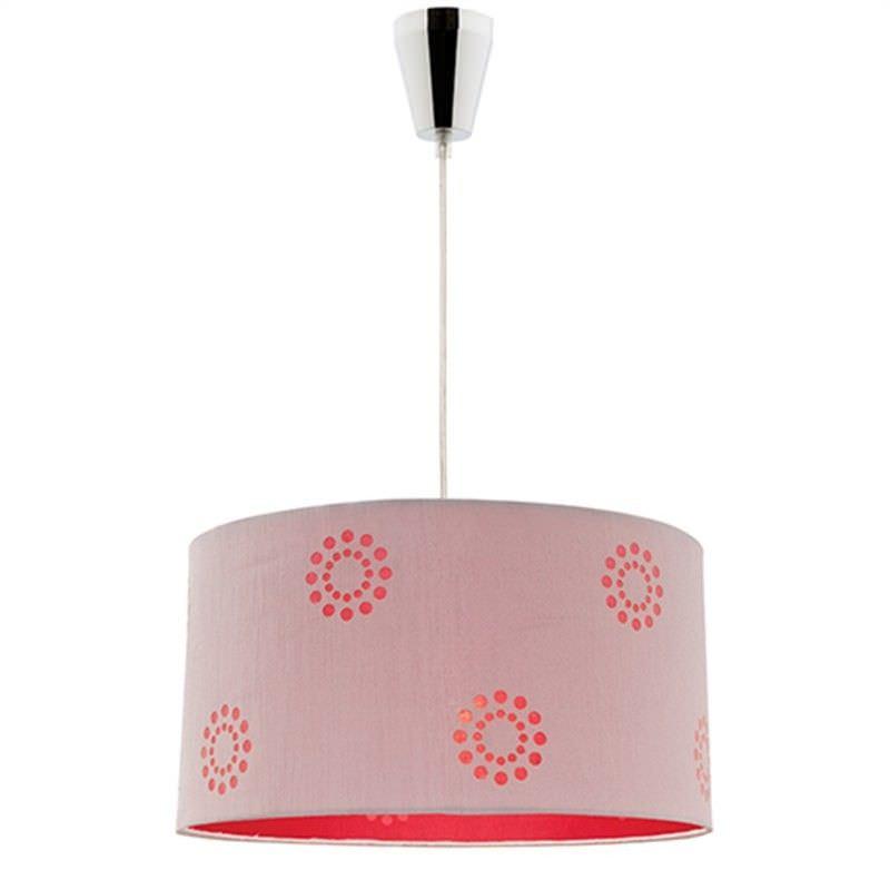 Fabian DIY Pendant Light - Silver/Red