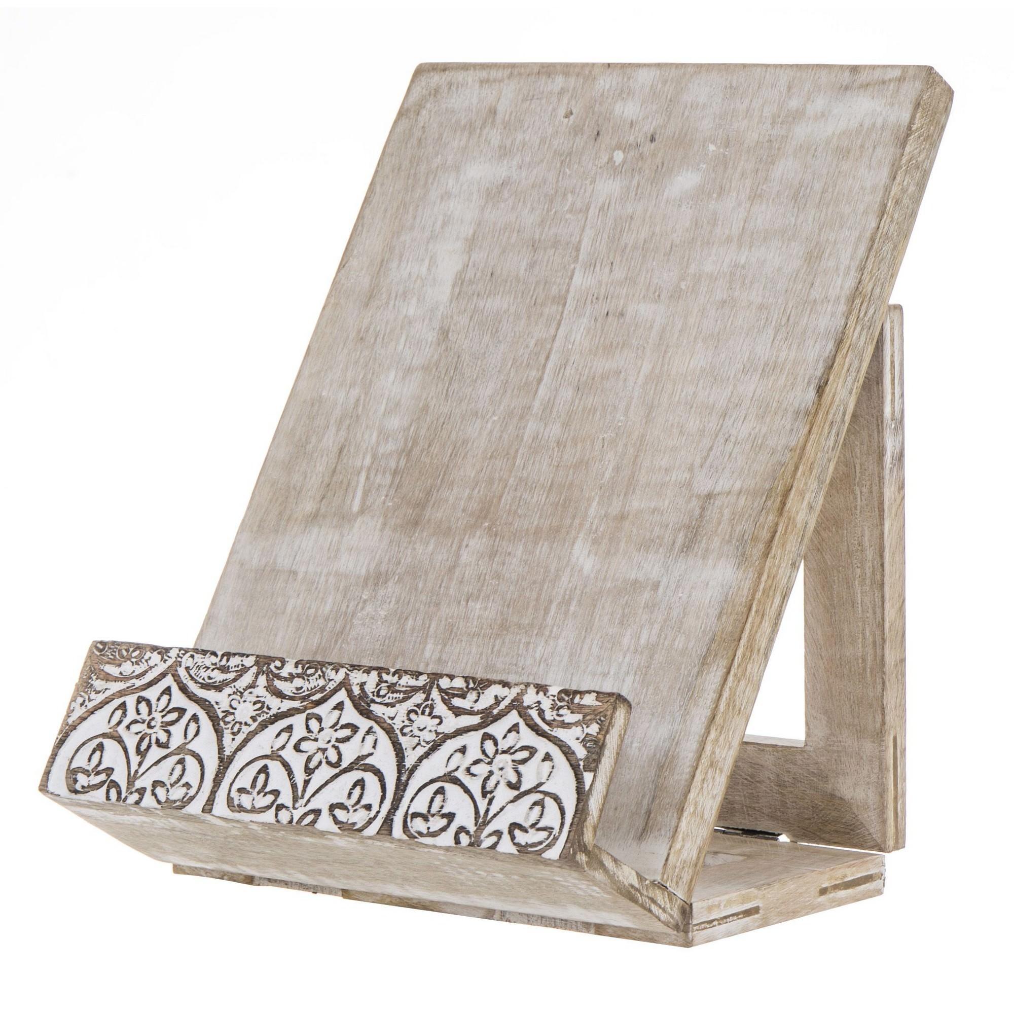 Adora Mango Wood Recipe Book Holder
