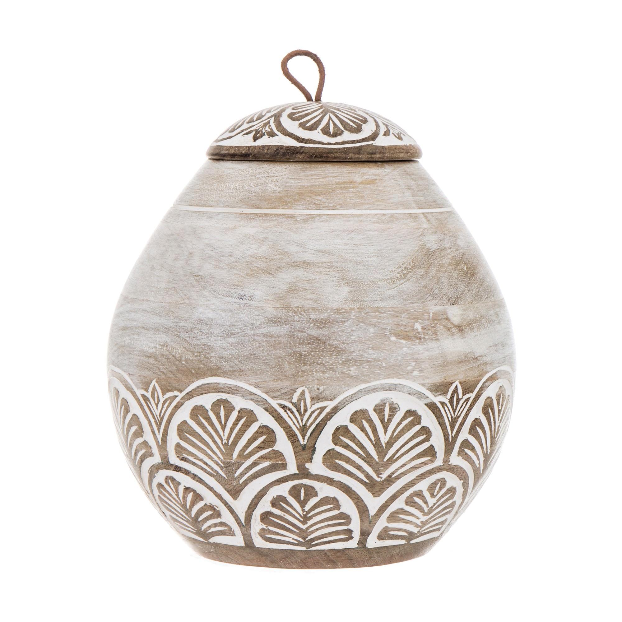 Adora Mango Wood Storage Jar, Large