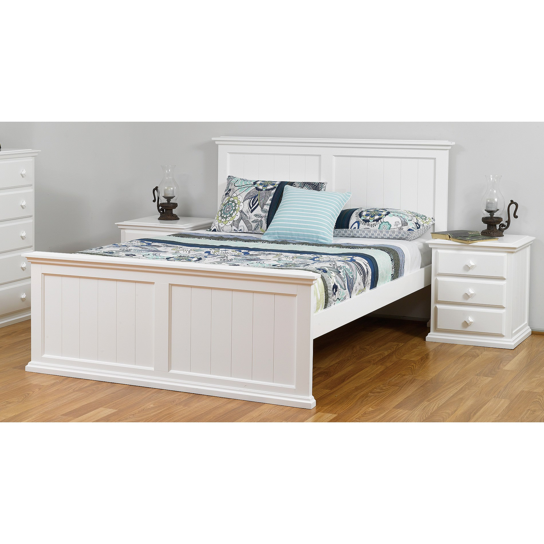 Fairmont Wooden Bed, King