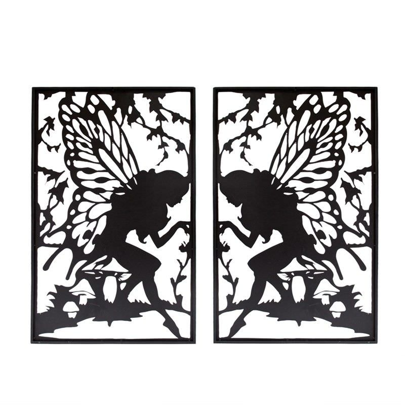 Metal Fairy Silhouette Wall Art (Set Of 2)