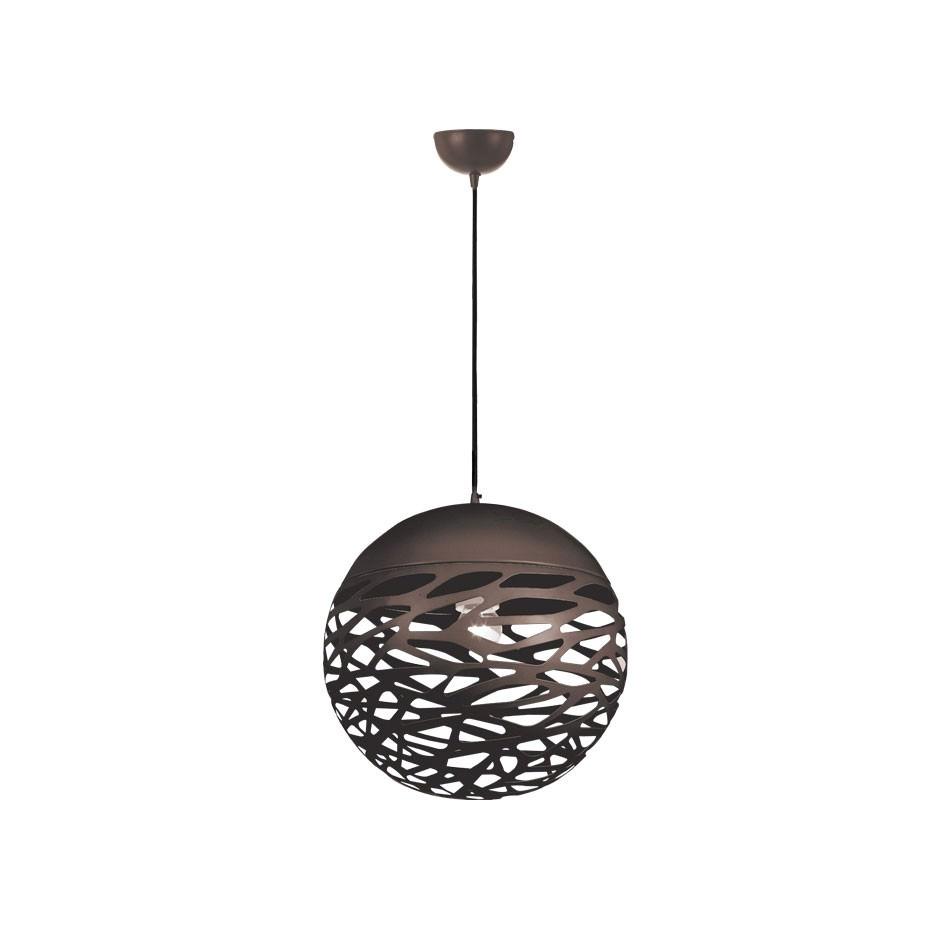 Farina Metal Ball Pendant Light, Small, Bronze