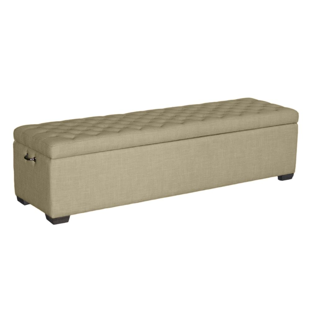 Felix Linen Fabric Bed End Storage Ottoman, 160cm