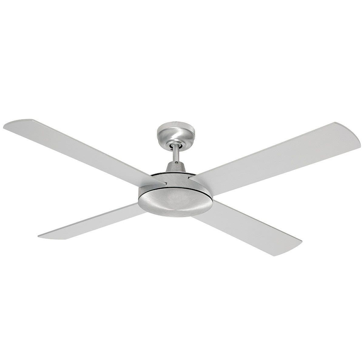 "Grange Timber Ceiling Fan, 130cm/52"", Brushed Steel"