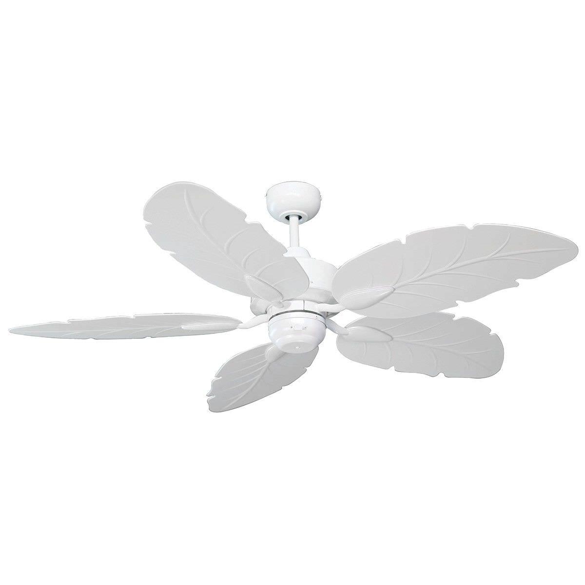 """Cooya IP44 Outdoor Ceiling Fan, 130cm/52"""", White"""