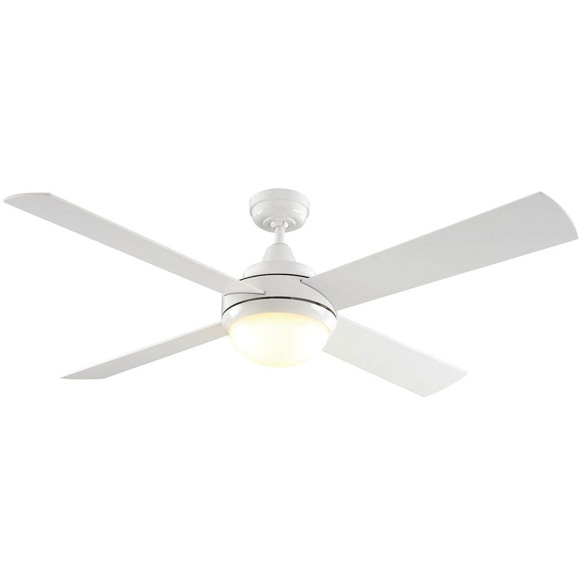 Caprice Timber Dc Ceiling Fan With Led Light 130cm 52 White