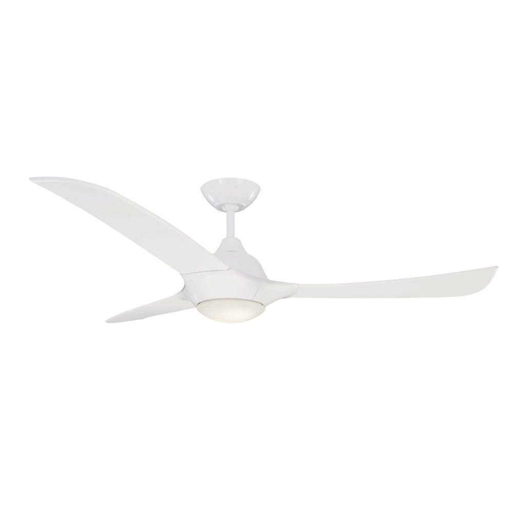 "Europe AC Ceiling Fan with LED Light, 130cm/52"", White"