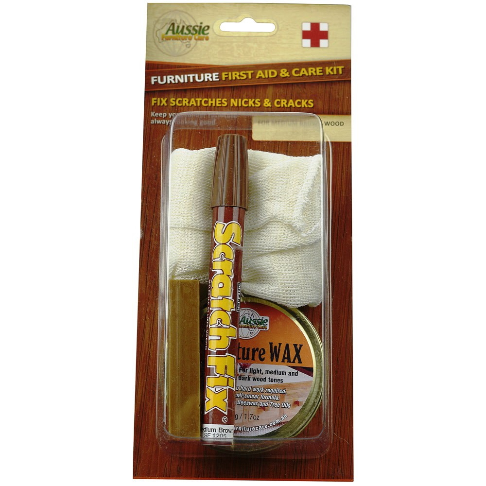 AFC Furniture First Aid & Care Kit, Medium Brown