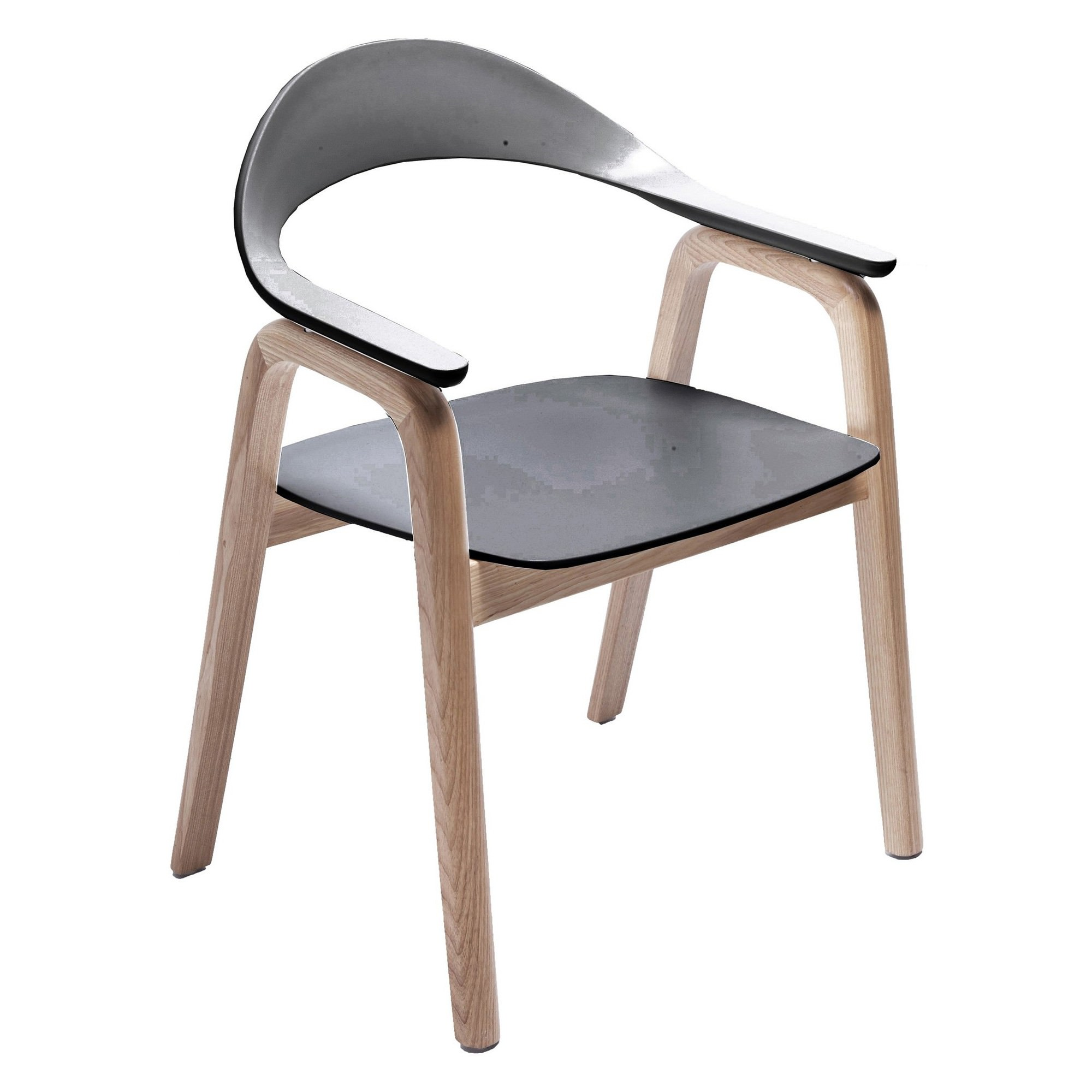 Gia Dining Chair, Natural / Black