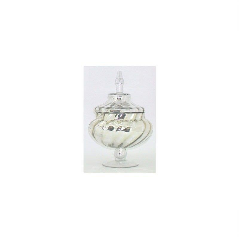 Mercury Glass Jar and Lid