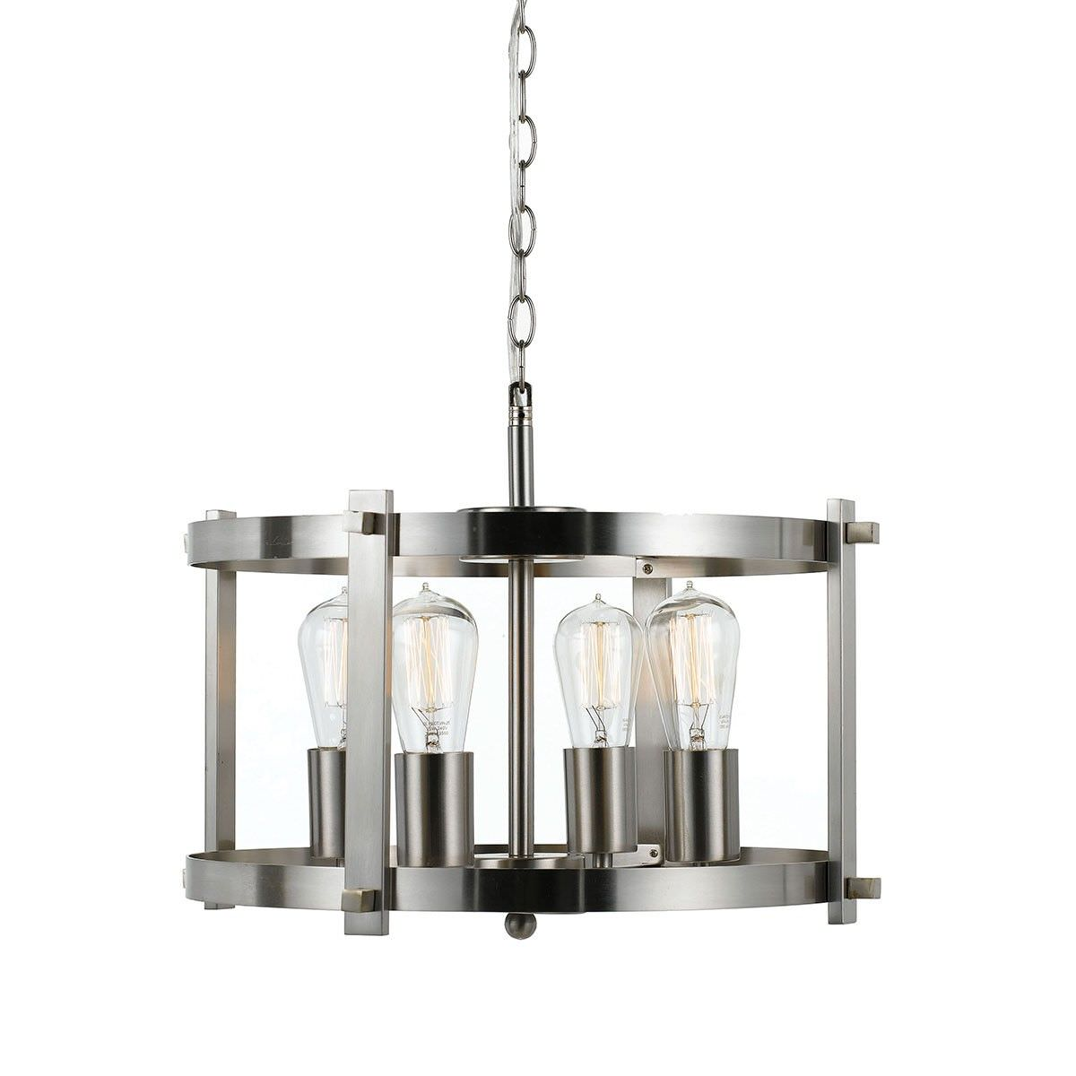 Finley Metal Pendant Light, Small, Nickel
