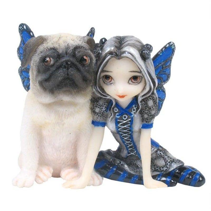 Dark Fairy Figurine, Pug Pixie