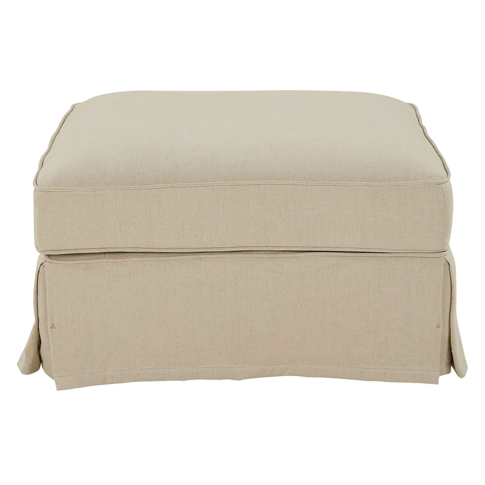 Noosa Fabric Ottoman Slipcover (Cover Only), Beige