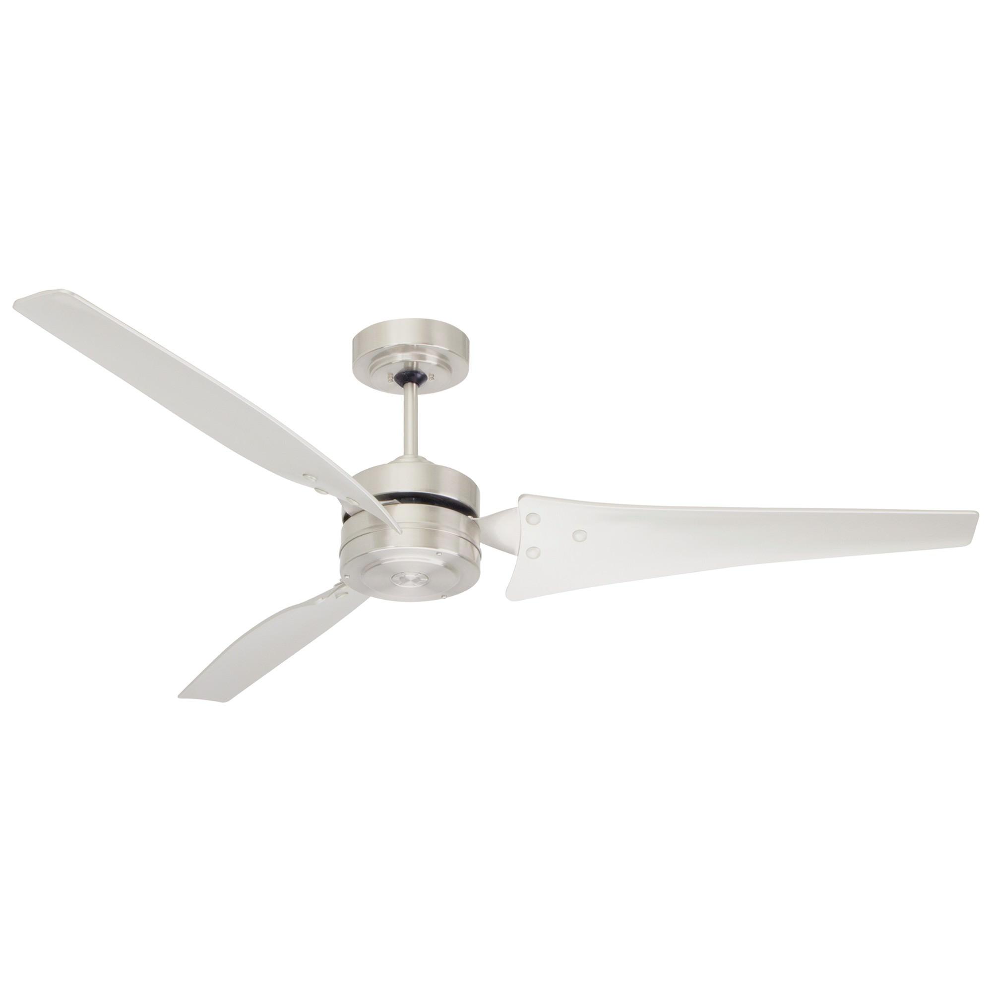 """Emerson Loft Ceiling Fan, 152cm/60"""", Brushed Steel"""