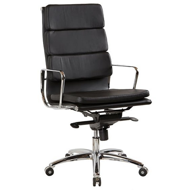 Flash Leather Executive Office Chair, High Back
