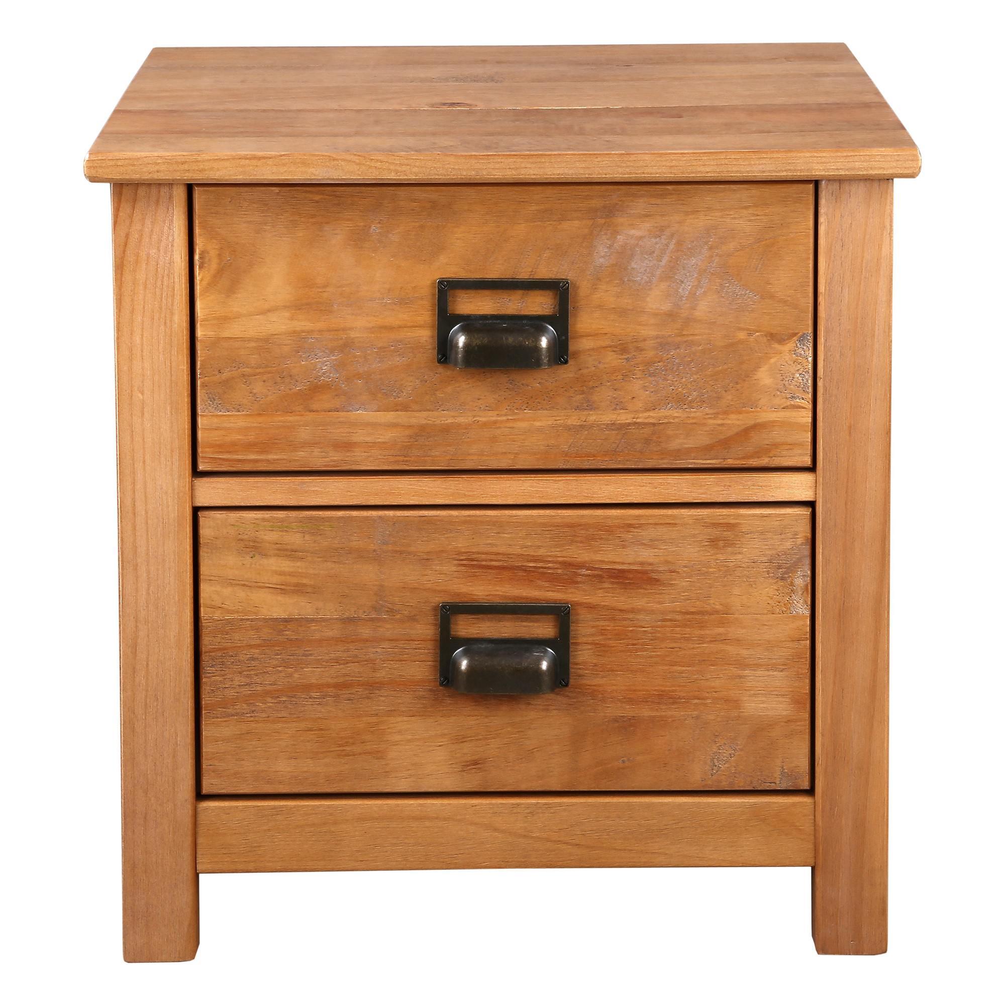 Flinders Timber Bedside Table, Natural