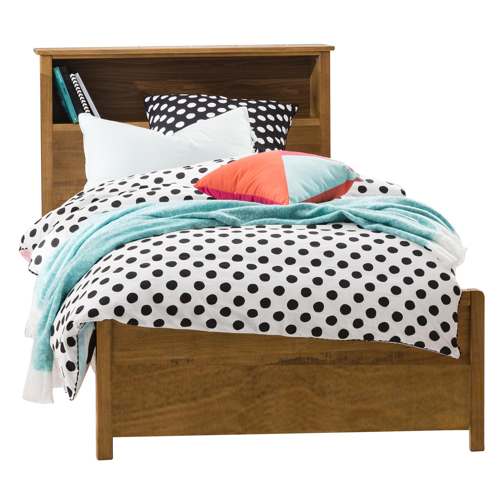 Flinders Timber Bookend Bed, Single, Natural