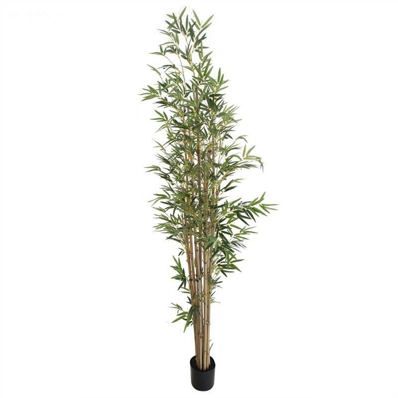 Artificial Potted Bamboo Tree with Natural Trunk, 220cm
