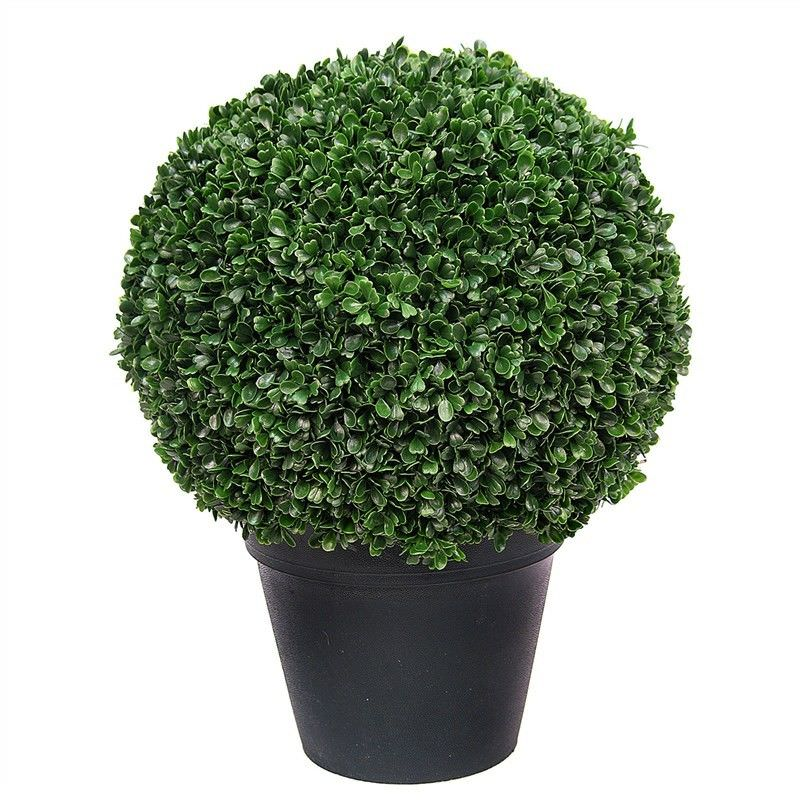 Artificial Potted Boxwood Ball