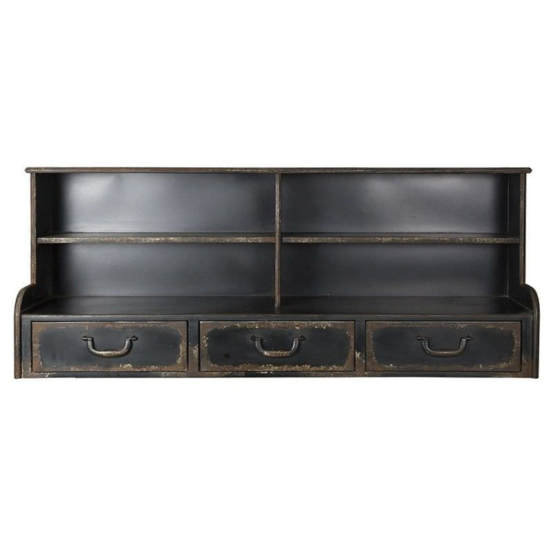 Ziven Metal 3 Drawer Bureau