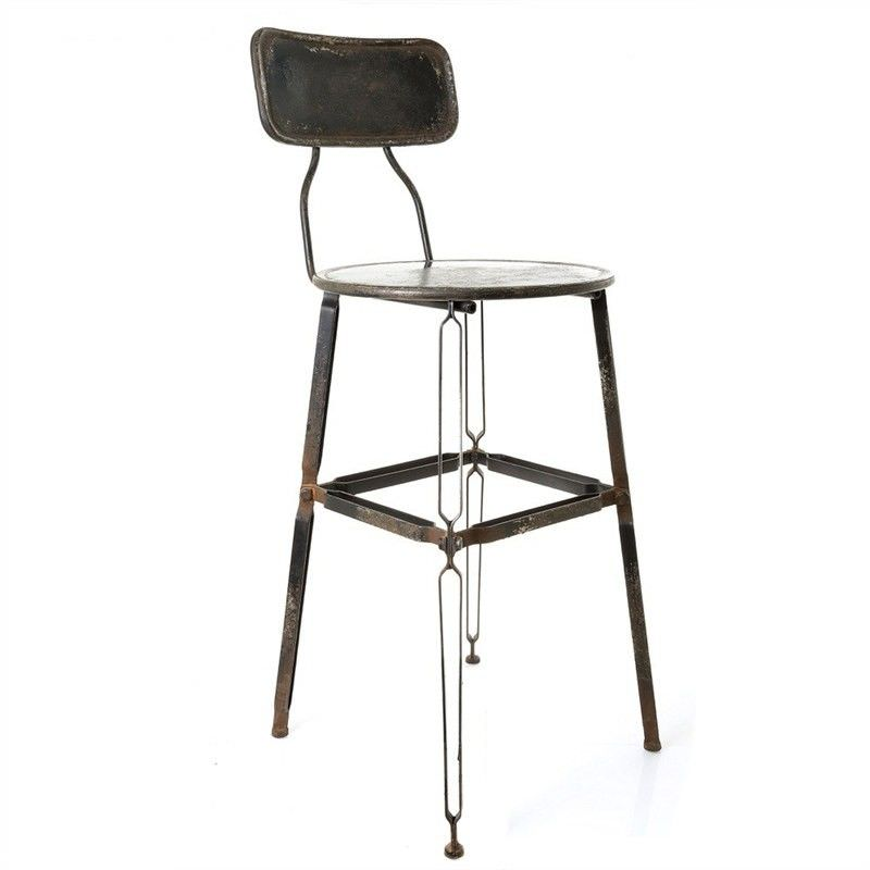 Axton Metal Bar Stool with Back