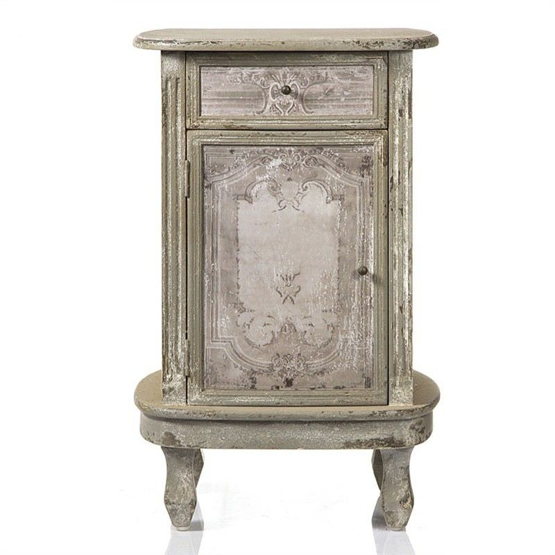 Gabrielle Hand Painted Wooden Bedside Table