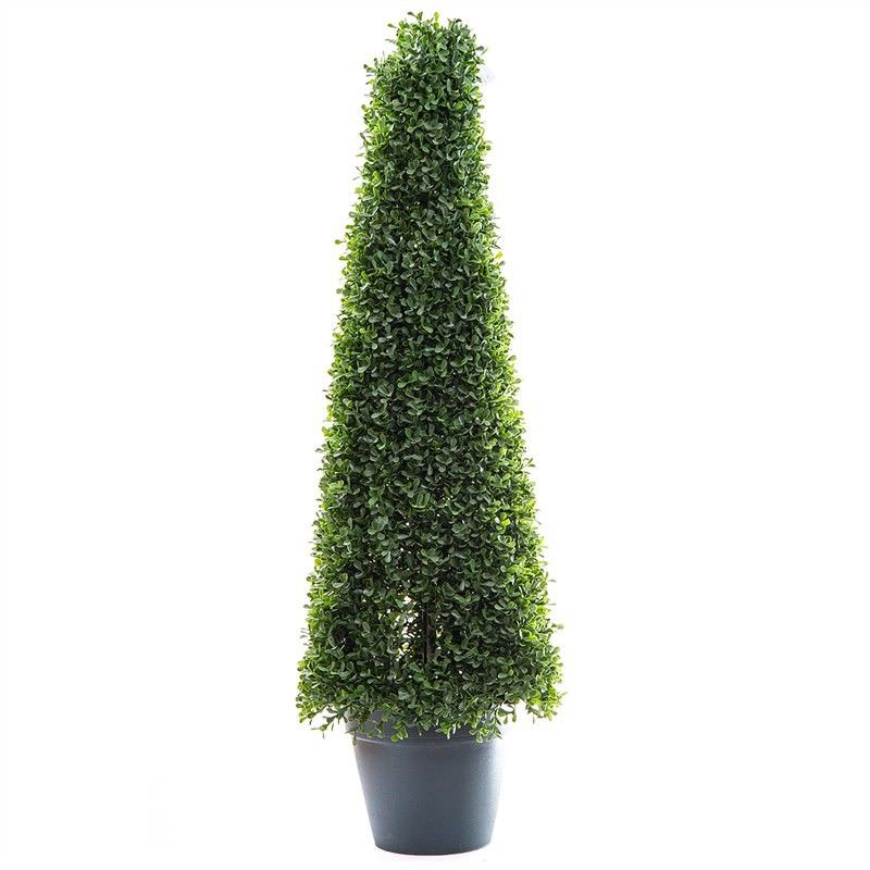 Artificial Boxwood Mini Topiary in Pot, 90cm