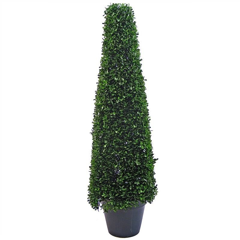 Artificial Boxwood Topiary in Pot