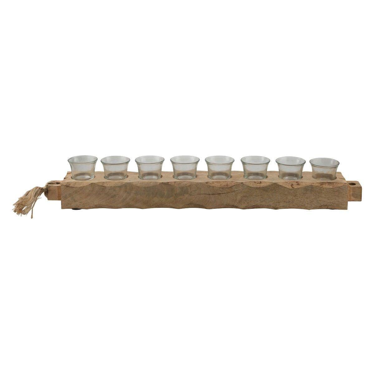 Jali Mango Wood Tealight Holder, Large