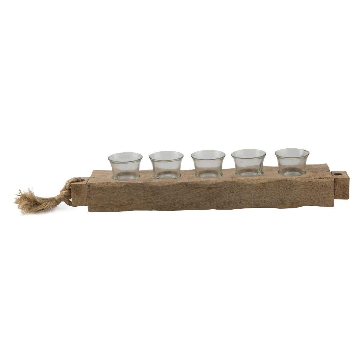 Jali Mango Wood Tealight Holder, Medium