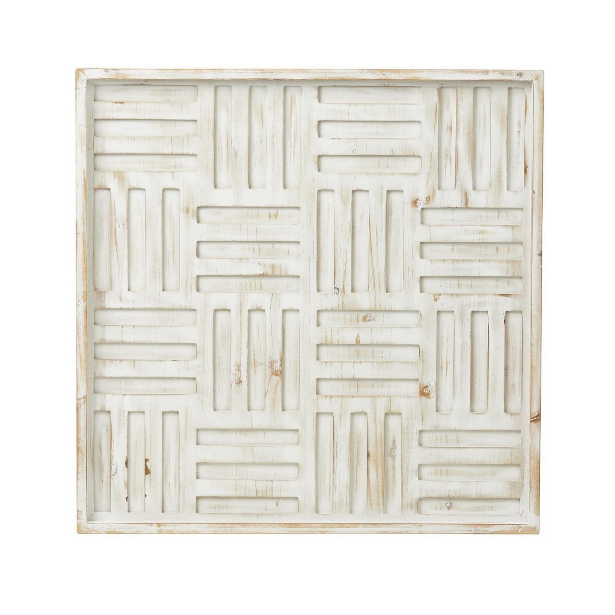 Labyrinth Fir Timber Wall Decor, 60cm