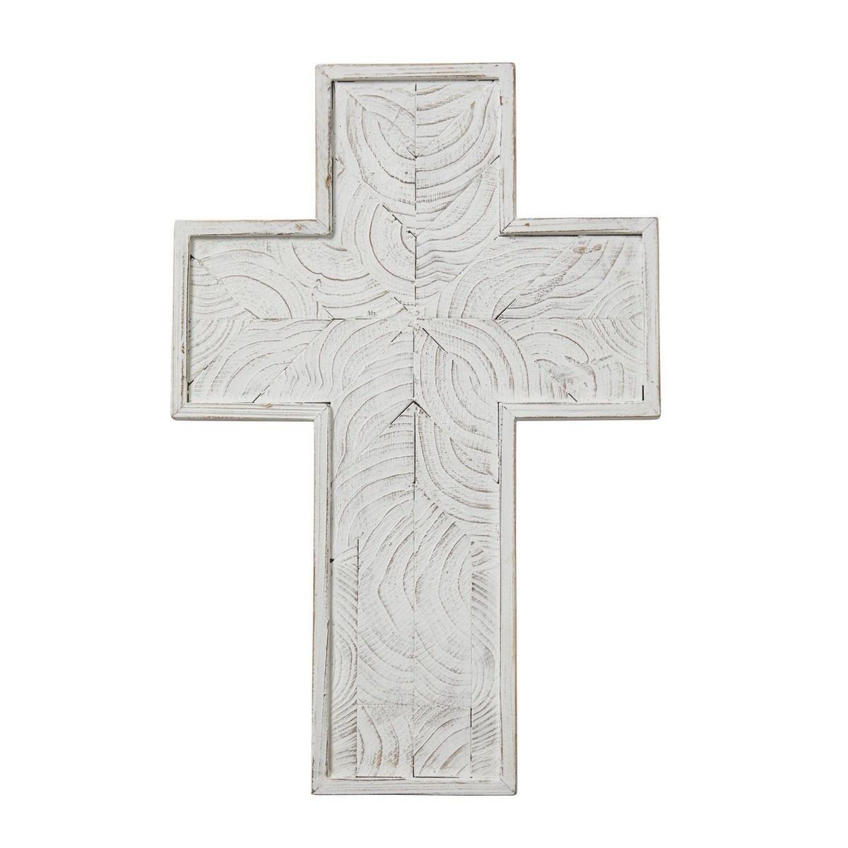 Northford Wooden Cross Wall Decor, Large