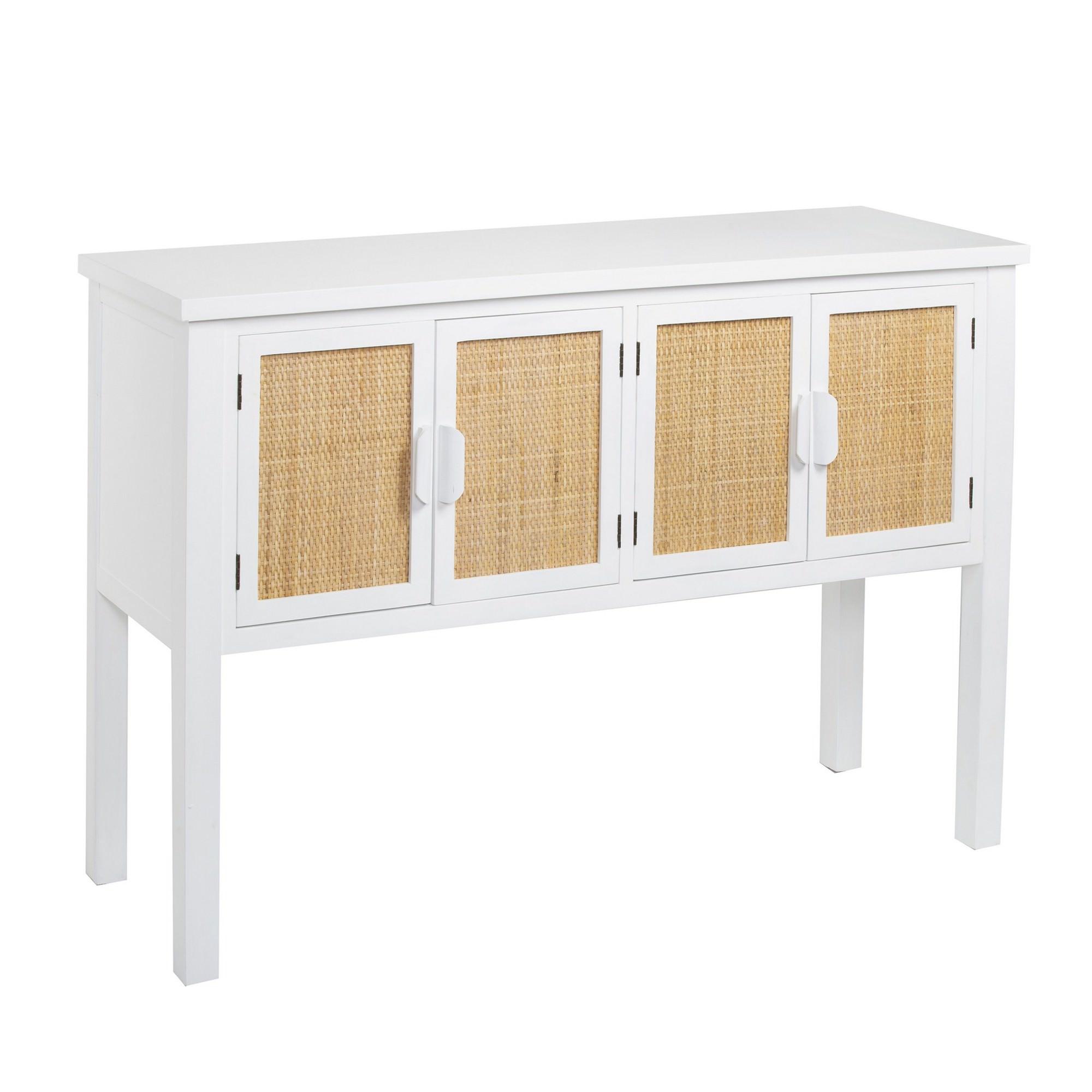Millen Handmade Wooden 4 Door Console Table, 120cm