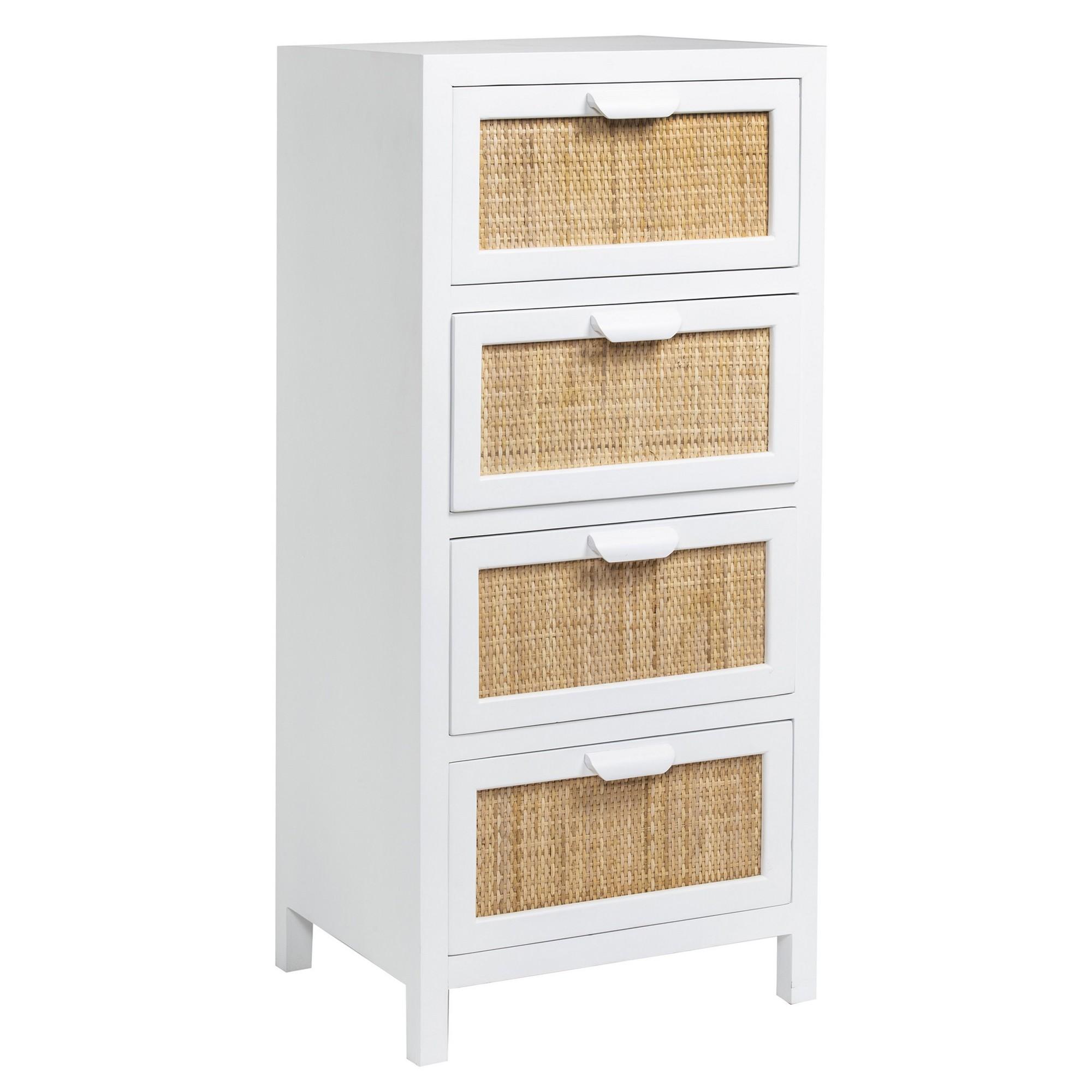 Millen Handmade Wooden 4 Drawer Storage Chest