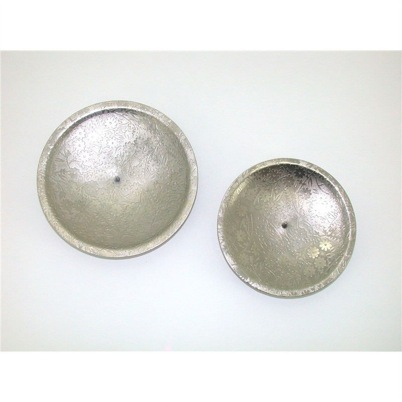 "Forest Nickel Candle Plates set of 2 Suitable For 3"" and 4"" Diameter Candles"