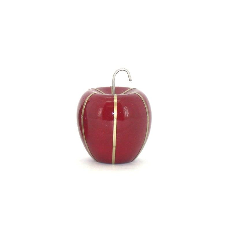 Red Wood Apple with metal strips