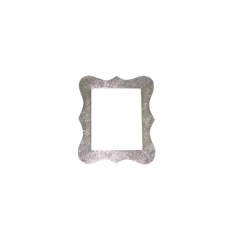 White Metal Petal Frame 4x6''