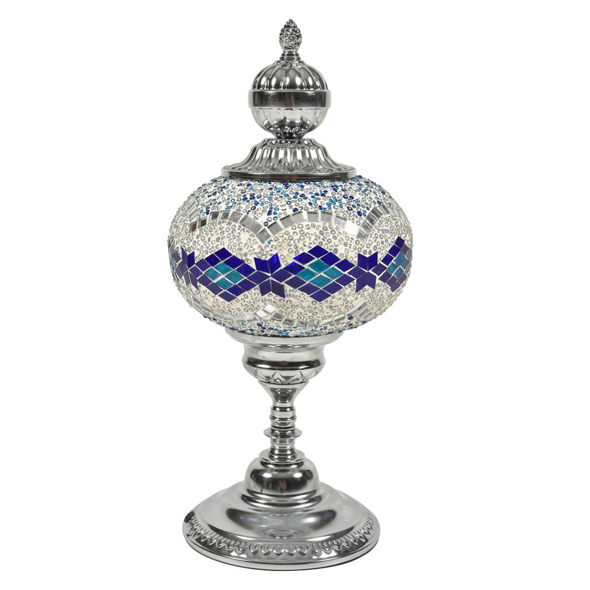 Picture of: Anik Mosaic Glass Moroccan Table Lamp Large