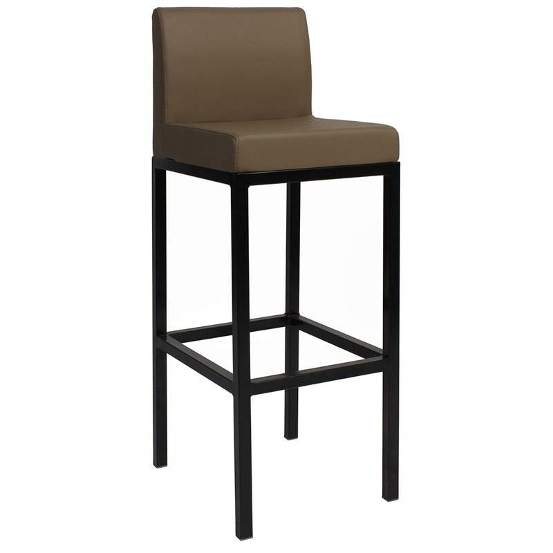 Dublin V2 Commercial Grade Vinyl Upholstered Steel Bar Stool - Taupe