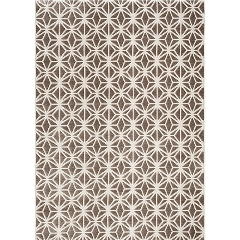 Fruzan Valence Turkish Made Modern Rug, 240x330cm, Chocolate / Cream