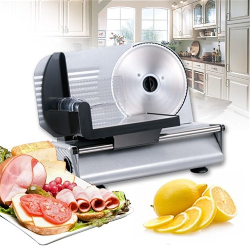 Maxim 150W 190mm Electric Food Meat Bread Fruit Cheese Vegetable Slicer