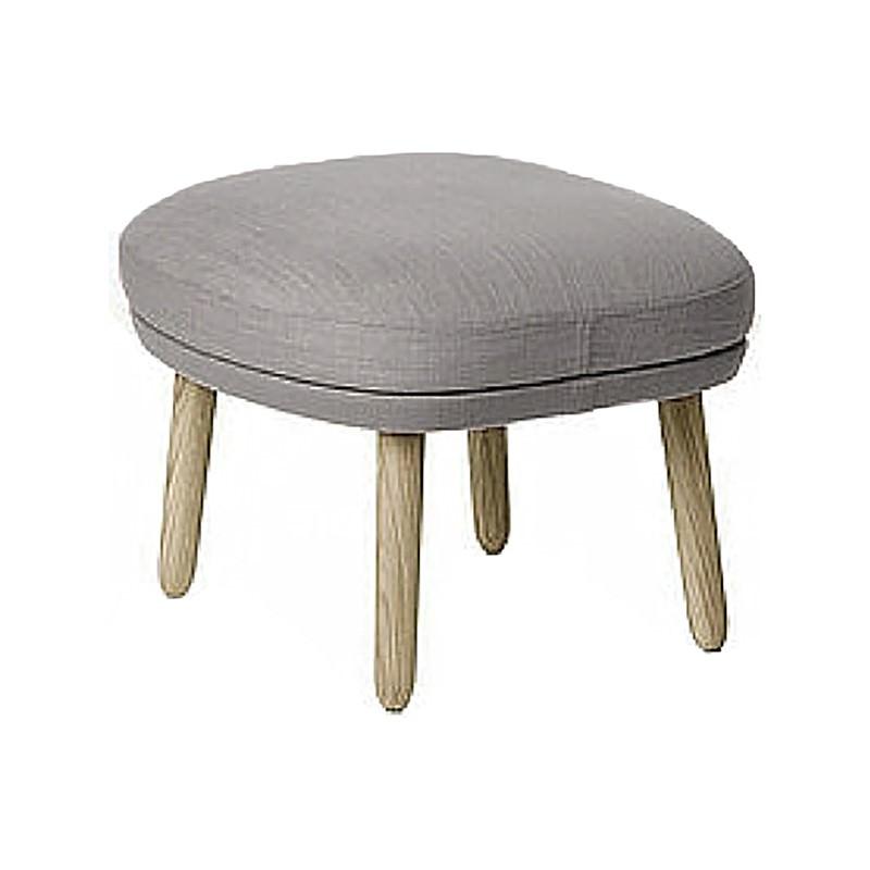 Suki Fabric Footstool, Grey