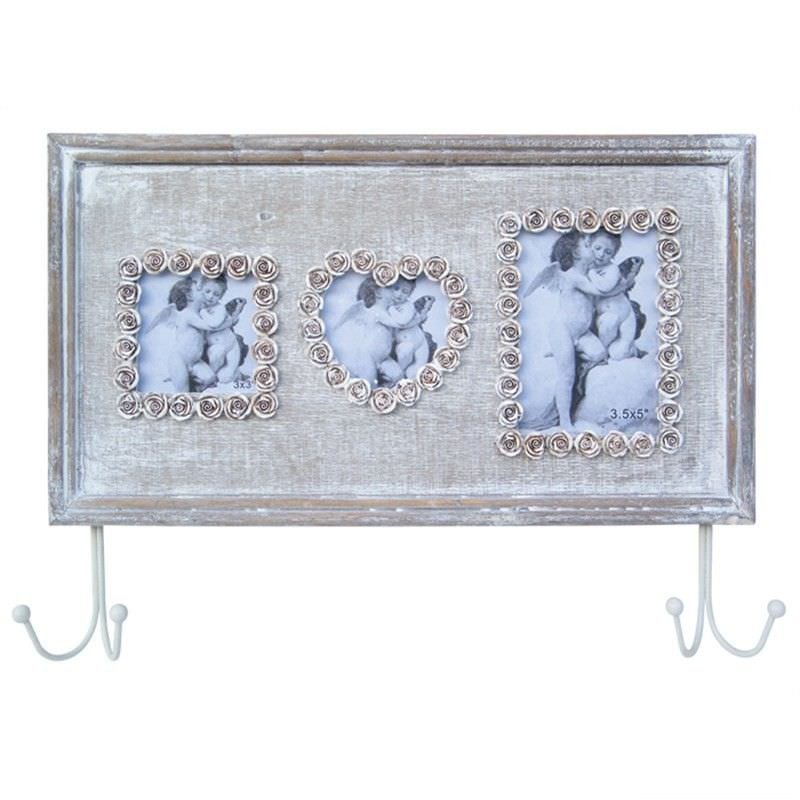 Photo Frame with 2 Hooks