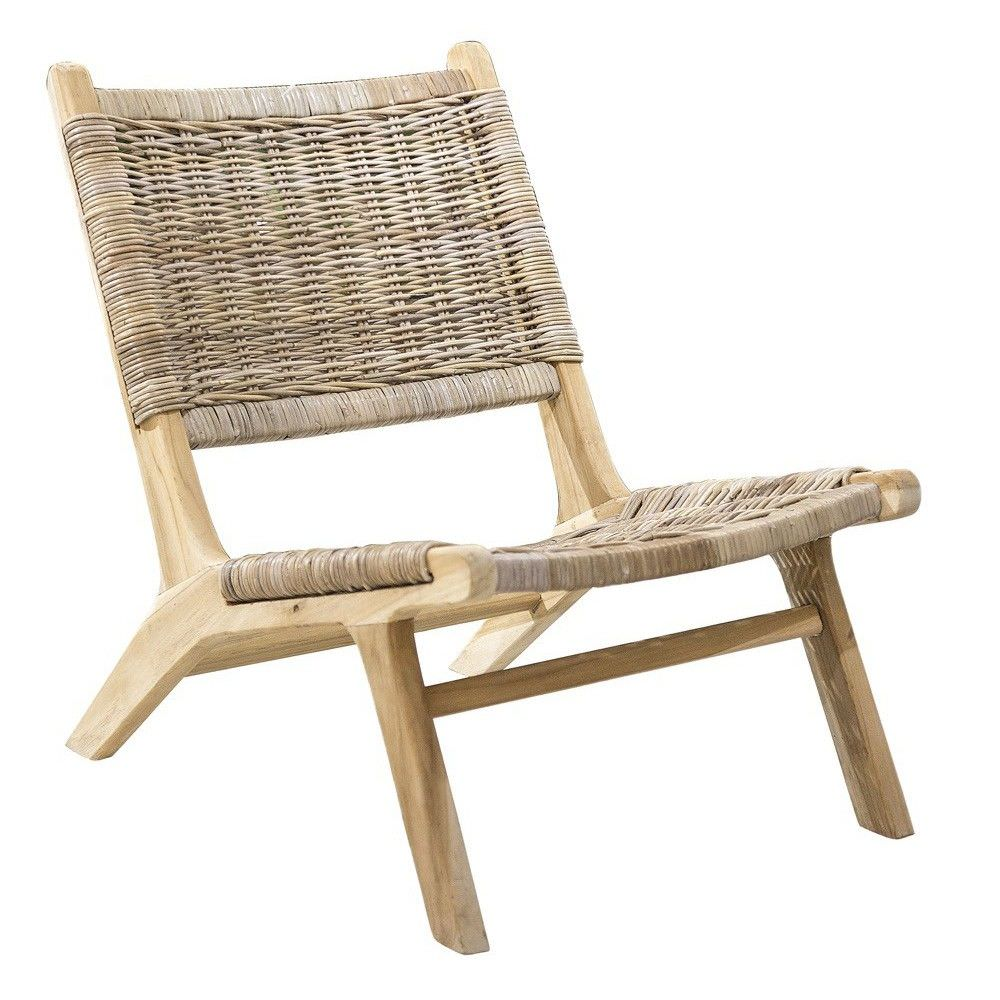 Rattan Timber Lounge Chair # Muebles Dipay Cancun