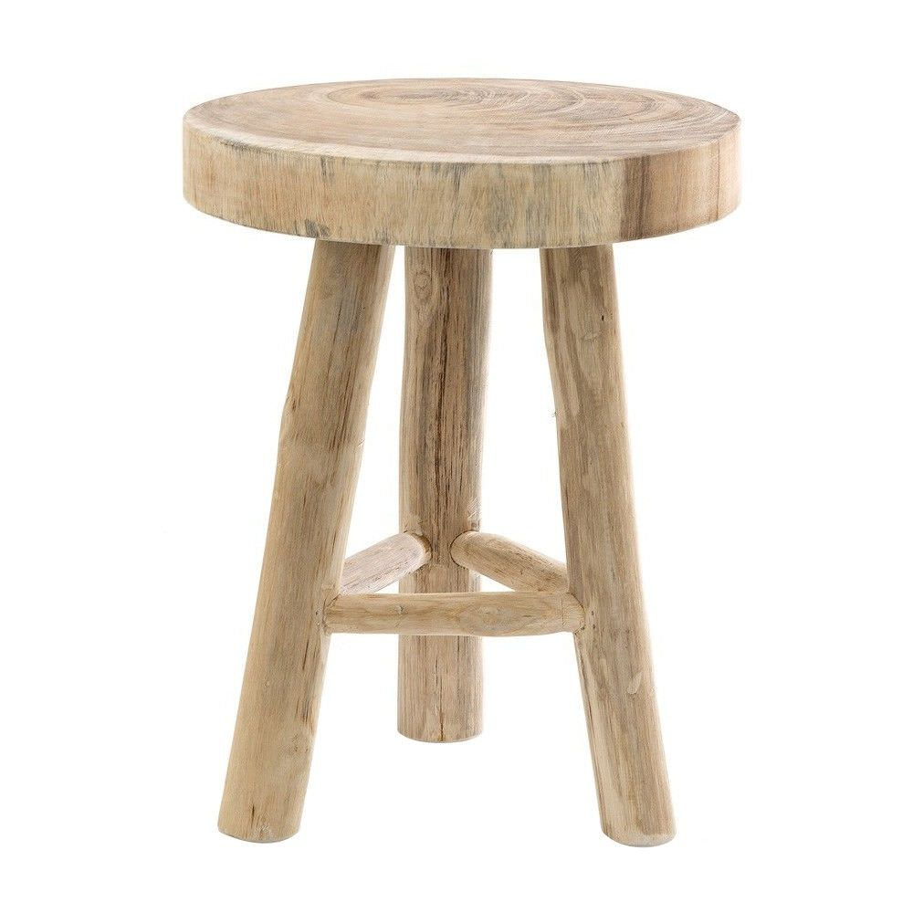Cancun Timber Round Side Table