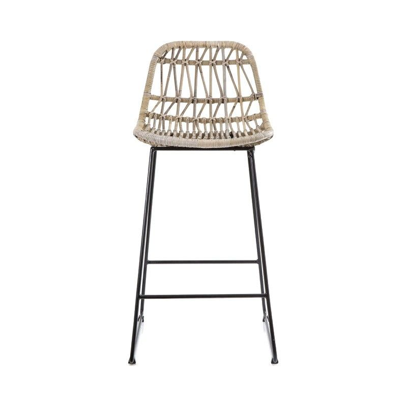 Comores Rattan & Metal Counter Stool