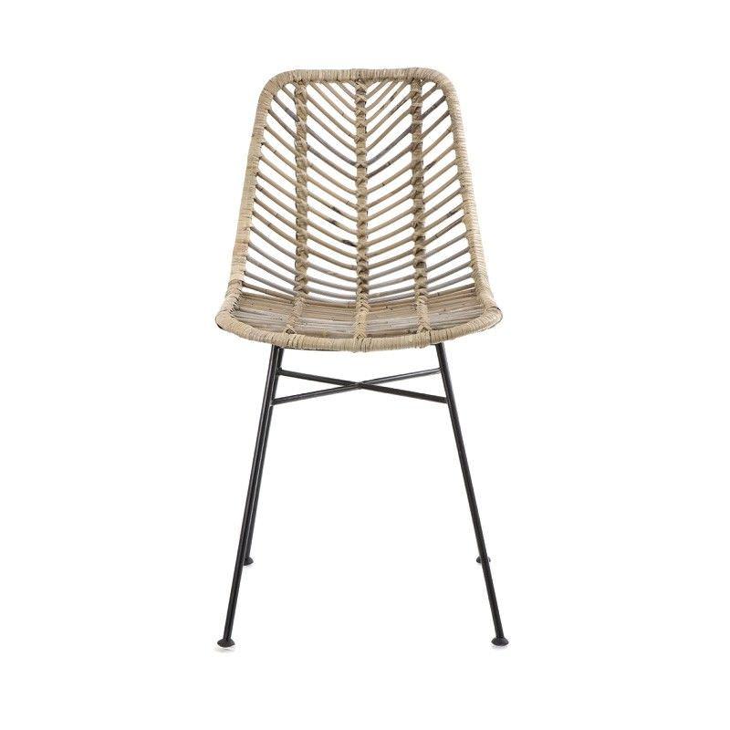 Comores Rattan & Metal Dining Chair